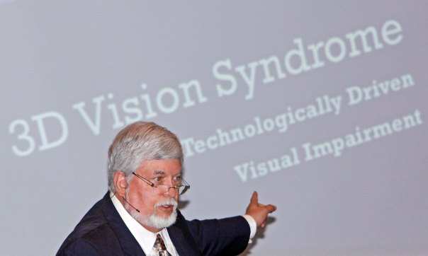 Photo #4 Presenting a lecture on 3D Vision Syndrome   Dominick is  an AOA spokesperson on BV problems associate with watching simulated 3d